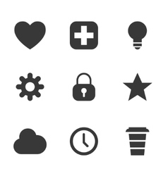 Packs icons user interface for mobile devices and vector