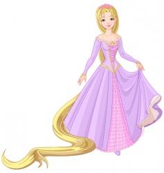 princess Rapunzel vector image