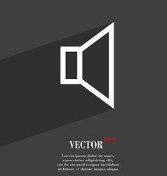 Volume sound icon symbol flat modern web design vector