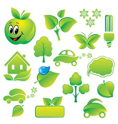 Set of environmental icons vector