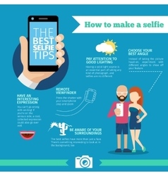 The best selfie tips how to make infographic and vector