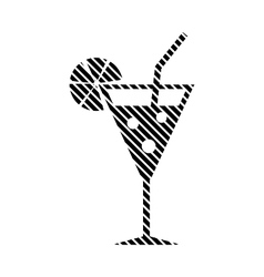 Cocktail glass sign vector
