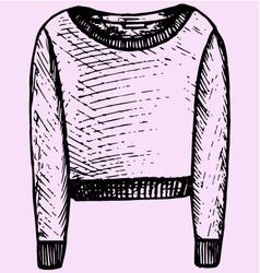 Womens sweatshirt vector