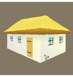 Ukrainian hut image vector
