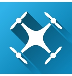 Quadcopter gradient square icon vector