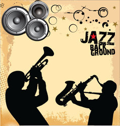 Jazz Music grunge background vector image