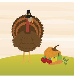 A Turkey and the Harvest vector image vector image