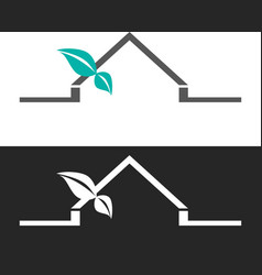 Abstract house logo design template vector