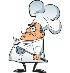 Angry chef vector