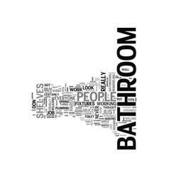 Bathroom shelves text word cloud concept vector