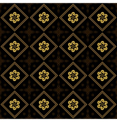 black and golden texture with rhombuses vector image