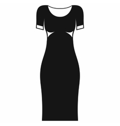 Black dress icon simple style vector image vector image