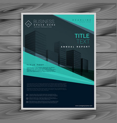 Blue professional brochure design template vector