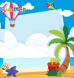 Border design with summer theme vector image vector image
