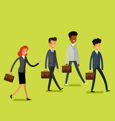 Business concept people follow the leader vector