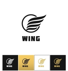 Business wing logo icon vector image vector image
