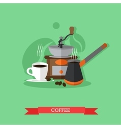 Coffee making set vector