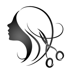 Design for womens hairdressing salon vector