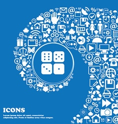 Dices icon sign nice set of beautiful icons vector