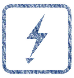 electric strike fabric textured icon vector image
