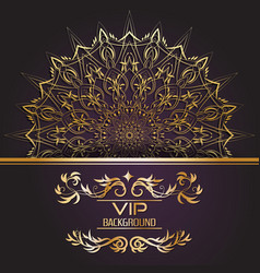 gold background flyer style design template vector image vector image