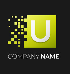 letter u logo symbol in the colorful square vector image vector image