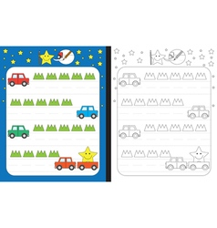 Little star worksheet vector