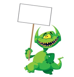 monster smile with a sign vector image vector image