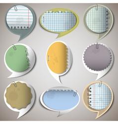Paper speech bubbles vector image vector image