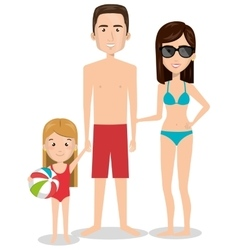Person charcter with swimwear vector
