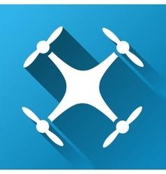 Quadcopter gradient square icon vector