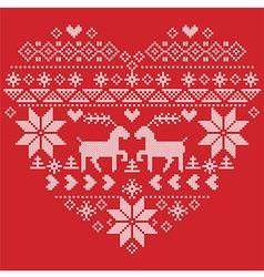 Scandinavian nordic winter stitch knitting vector