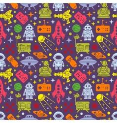 Sci-fi retro pattern vector image vector image
