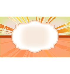 The frame with the rays in the background vector image