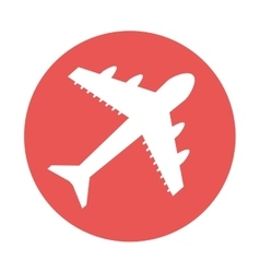 airplane fly silhouette icon vector image
