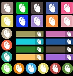 Human heart icon sign set from twenty seven vector
