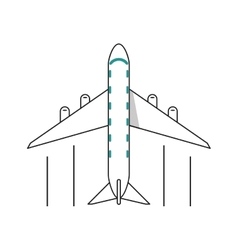 Isolated airplane vehicle design vector