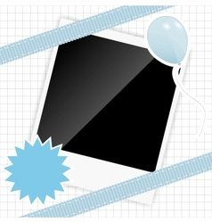 scrapbook elements with photos frame vector image