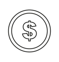 Coins money dollar isolated icon vector