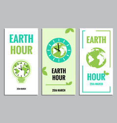 Template of earth hour or daylight saving vector