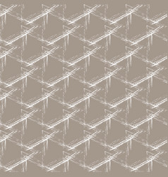 white grunge grid on a beige background vector image