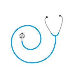 Stethoscope in shape of spiral in blue design vector