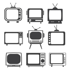 Tv set vector