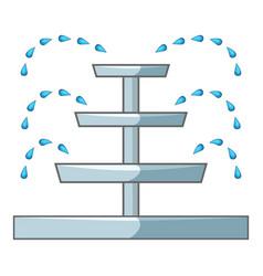 Water fountain icon cartoon style vector