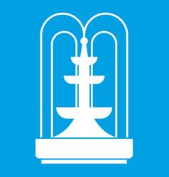 Fountain icon white vector