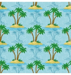 Seamless pattern palm trees vector