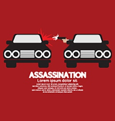 Assassination shooting from the car vector