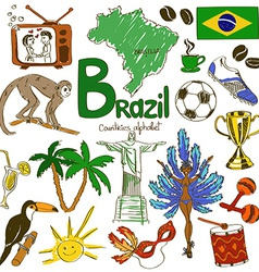 Collection of brazil icons vector