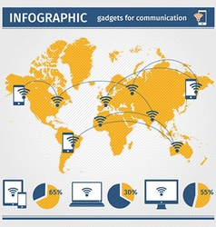 Infographic gadgets for communication vector