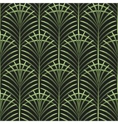 Palm leaves seamless pattern vector